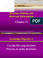 (3) Ch11 - Decision Making and Relevant Information