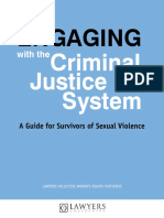 Dos and Donts Engaging with the Criminal Justice system - Survivors of sexual violence Lawyers Collective -