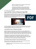 Agen Judi Bola Terbesar Di Indonesia Sejak 2008