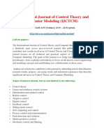 International Journal of Control Theory and Computer Modeling