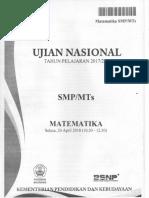 1. [UN SMP 2018] MATEMATIKA Www.soal-soal-kitah.com