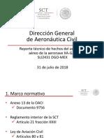 Preliminary accident report Aeromexico Embraer e190 XA-GAL Durango 31 - Jul - 2018