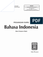 Kunci Bahasa Indonesia XI a K-13 Edisi 2017