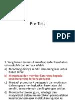 Pre Test Remaja