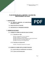 PLAN DE MEJORA DE LA GESTIÓN Y CALIDAD DEL ABASTECIMIENTO DE AGUA