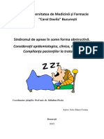 Sindromul de Apnee În Somn Forma Obstructivă