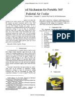 Bevel Geared Mechanism for Portable 360 Pedestal Air Cooler