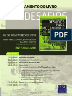 """IESE lança o livro """"Desafios para Moçambique 2018"""" em Novembro"""