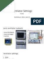 Setting Ventilator