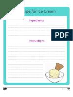 Editable Ice Cream Recipe