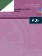 Variables de referencia para el análisis de la inflación en España