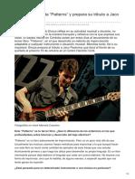 Pablo Elorza Edita Patterns y Prepara Su Tributo a Jaco Pastorius