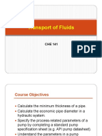 Lecture 5- Transport of Fluids