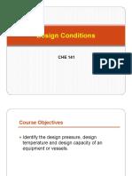 Lecture 3- Design Conditions