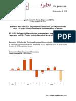 Indicadores de Confianza Empresarial (ICE). Cuarto trimestre de 2018.