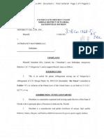 Motobatt USA v. Antigravity Batteries - Complaint