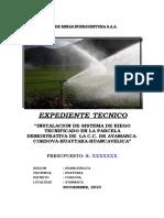 Expediente Técnico SDR Ayamarca