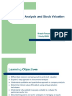 Final - Company Analysis and Stock Valuation