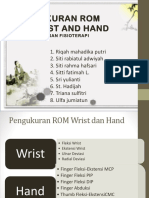Pengukuran ROM Wrist and Hand