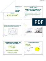 1 Curvas y Funciones Vectoriales