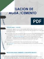 Relacion de Agua Diapositiva