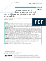 The Effect of Antenatal Care on Use Of