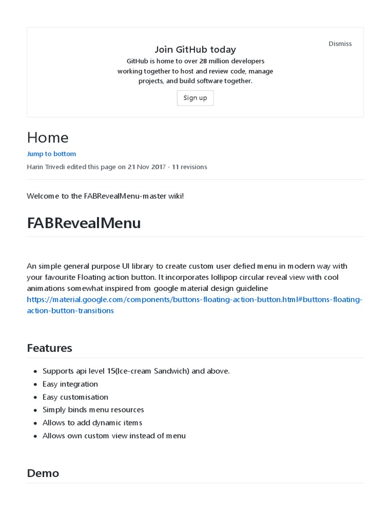 Home · HarinTrivedi_FABRevealMenu-master Wiki · GitHub