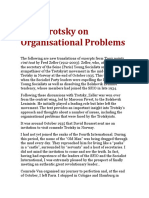 Leon Trotsky on Organisational Problems