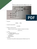 Balance de reacción quimica