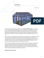1016 Greenhouse Plans