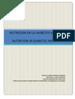 Nutrición Equilibrada en El Paciente Diabético