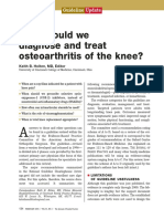 How Should We Diagnose and Treat Osteoarthritis of the Knee