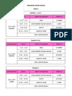 Jadual Fnl Xm 2018