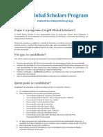 Cargill FAQ's Portuguese