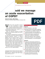 How Should We Manage an Acute Exacerbation of COPD