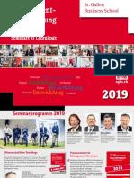 Management Aus- und Weiterbildung, Seminarprogramm 2019, St. Galler Business School