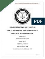 International Law Project, Diptimaan Kumar, Sem IVB, Roll 61
