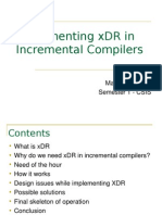 XDR in Compilers