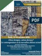 """Coloquio Internacional """"Lo contemporáneo en la narrativa chilena actual"""""""
