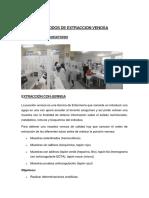 Metodos de Extraccion Venosa Analisis Clinico