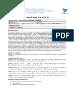 Topicos en Materia Condensada II