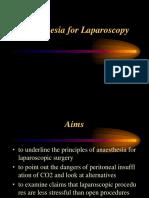 Anaesthesia for Laparoscopy-1