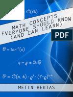 Math Concepts Everyone Should Know by Metin Bektas