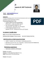 CV 1- Cswip 3.1weldnig &NDT Inspector