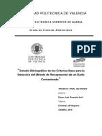 Criterios Para Selección de Método de Remediación de Suelos