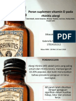 Peran Suplemen Vitamin D Pada Rhinitis Alergi