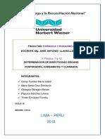 Practica 11 y 12 Toxicologia y Quimica Legal