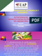 Interferencias farmacológicas en pruebas de laboratorio.pptx