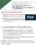 Métodos de avaliação de projetos - VPL e TIR