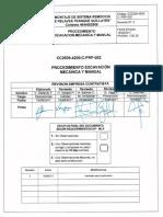 CC2509-4200-C-PRP-002 R0 Excavación Mecanica y Manual